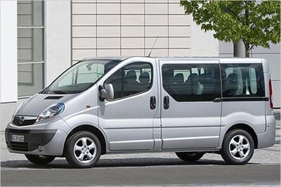 Rent a Opel Vivaro car in Thessaloniki