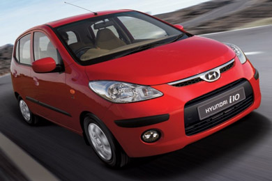 Rent a Hyundai i10 AC car in Thessaloniki