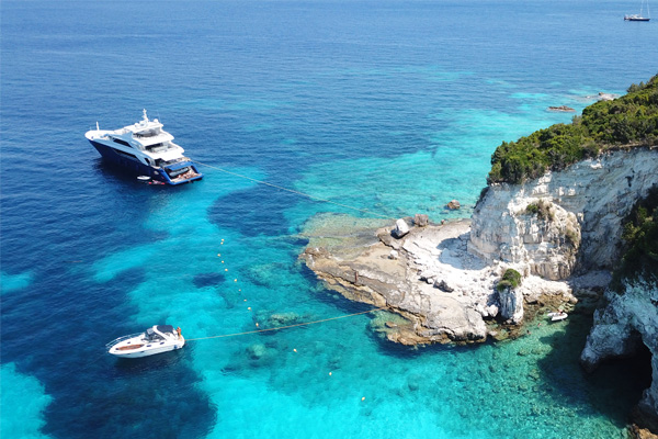 Rent a car in Antipaxoi and explore beautiful beaches